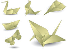 Oggetti di Origami Immagine Stock Libera da Diritti