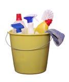 Oggetti di pulizia Fotografia Stock