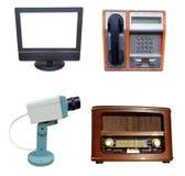 Oggetti di tecnologia su bianco immagine stock libera da diritti