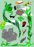 Oggetti di uso comune royalty illustrazione gratis