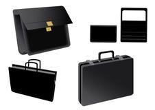Oggetti di vettore degli accessori dei mobili d'ufficio di affari Fotografie Stock Libere da Diritti