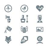 Oggetti differenti stabiliti della famiglia dell'icona Fotografia Stock Libera da Diritti