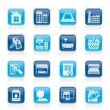 Oggetti ed icone del bene immobile Immagine Stock