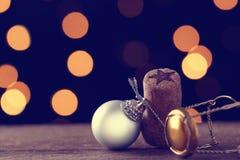 Oggetti ed ornamenti del Natale Fotografia Stock Libera da Diritti
