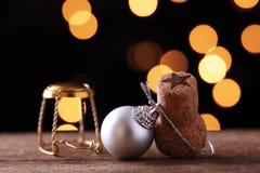 Oggetti ed ornamenti del Natale Fotografia Stock