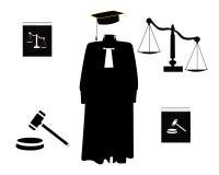 Oggetti giudiziari di ordine Fotografie Stock