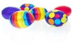 Oggetti isolati: uova di Pasqua Fotografie Stock