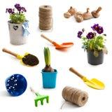 Oggetti per fare il giardinaggio Immagine Stock Libera da Diritti