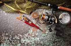 Oggetti per le bobine delle canne da pesca Immagini Stock