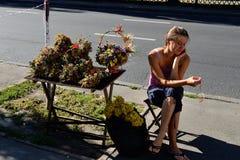 Oggetti per le stazioni termali della mela e del miele (festa ortodossa), Kiev Fotografia Stock