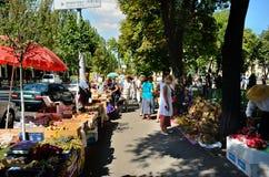 Oggetti per le stazioni termali della mela e del miele (festa ortodossa), Kiev Fotografia Stock Libera da Diritti