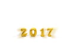 2017 oggetti reali 3d su fondo bianco, concetto del buon anno Fotografie Stock Libere da Diritti