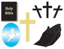 Oggetti religiosi di vettore Immagini Stock