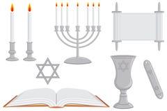 Oggetti religiosi ebrei royalty illustrazione gratis