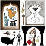 Oggetti - ritaglio illustrazione di stock