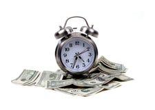 Oggetti - tempo e soldi Fotografie Stock Libere da Diritti