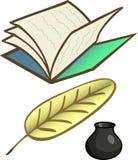 Oggetti tradizionali di scrittura Immagini Stock Libere da Diritti