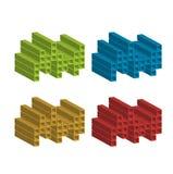 Oggetti variopinti 3d per uso come logo Fotografia Stock Libera da Diritti