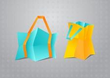 Oggetti variopinti di vettore dei sacchetti della spesa royalty illustrazione gratis