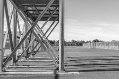 Oggetto all'aperto della struttura d'acciaio x Immagine Stock Libera da Diritti