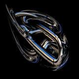Oggetto astratto del metallo. Il simbolo del movimento. Fotografia Stock Libera da Diritti