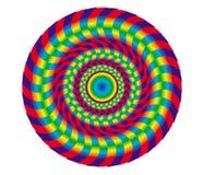 Oggetto astratto dell'arcobaleno Elemento di progettazione e di fondo artistico illustrazione di stock