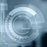 Oggetto astratto di contorno di tecnologia Concetto futuristico leggero, Di Fotografia Stock