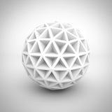 Oggetto bianco astratto della sfera di Poligon Fotografie Stock