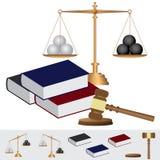 Oggetto circa il tema della corte. Immagini Stock