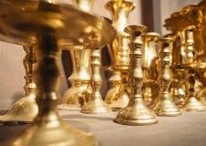 Oggetto d'annata d'ottone della decorazione dei supporti di candela Immagine Stock
