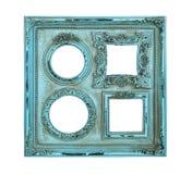 Oggetto d'antiquariato della struttura della foto dell'immagine di colore blu Immagine Stock