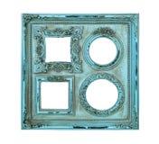 Oggetto d'antiquariato della struttura della foto dell'immagine di colore blu Fotografia Stock