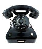 Oggetto d'antiquariato, vecchio retro telefono Fotografie Stock Libere da Diritti