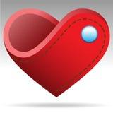 Oggetto del cuore di forma del portafoglio Fotografia Stock