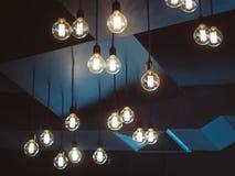 Oggetto dell'interno della decorazione delle lampadine Immagine Stock