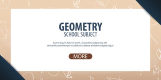 Oggetto della geometria Di nuovo alla priorità bassa del banco (EPS+JPG) Insegna di istruzione Immagini Stock