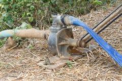 Oggetto dello strumento del dettaglio del primo piano della pompa idraulica Fotografia Stock