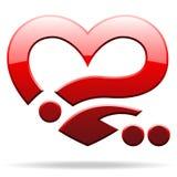 Oggetto di figura del cuore Fotografie Stock