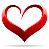 Oggetto di figura del cuore Fotografia Stock