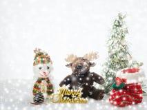 Oggetto di Natale con la caduta della neve Immagine Stock