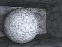 Oggetto di pietra concreto astratto della sfera Fotografia Stock