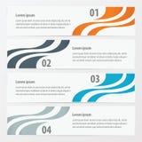 Oggetto di progettazione 4 sul modello arancio, colore blu e grigio dell'insegna fotografia stock libera da diritti