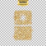 Oggetto di scintillio dell'oro Fotografie Stock Libere da Diritti