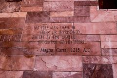Oggetto di testo di Magna Carta Immagine Stock