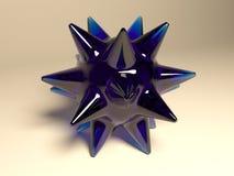 Oggetto di vetro blu astratto Fotografia Stock