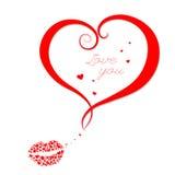 Oggetto di vettore di forma del cuore. illustrazione Fotografia Stock