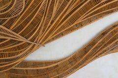 Oggetto di vimini di bambù Fotografia Stock Libera da Diritti