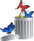 Oggetto di volo in rifiuti bin-06 Illustrazione di Stock