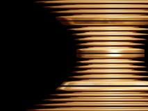 Oggetto dorato di turbinio Immagine Stock