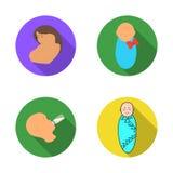 Oggetto isolato del logo del carattere e dell'infante Raccolta dell'infante e del simbolo di riserva felice per il web illustrazione di stock